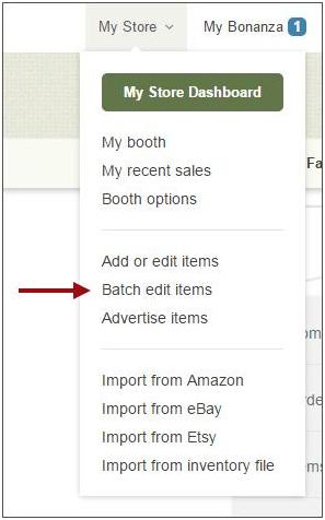 Batch edit items
