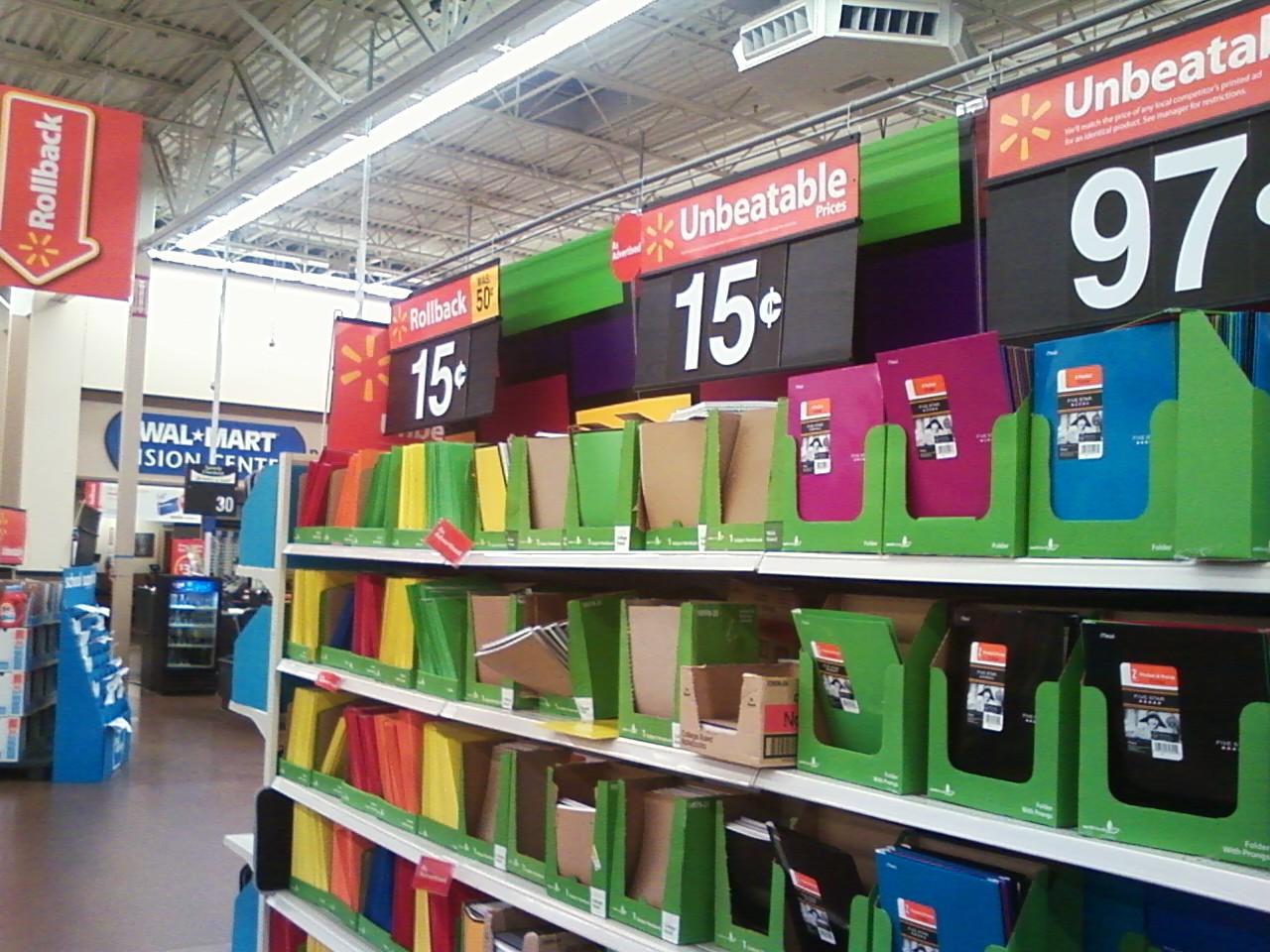 Photo: notebooks at Walmart