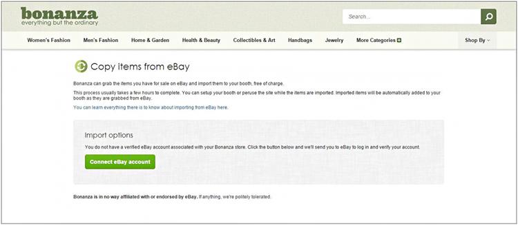 Copy items from eBay