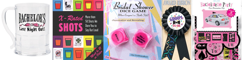 Bachelor and bachelorette party supplies