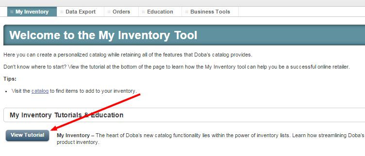 inventory tutorial
