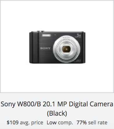 Digital Camera Success Rate: Sony W800