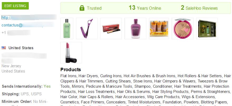 SaleHoo fake lashes wholesaler #1