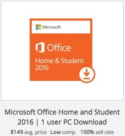 eBay statistics for Microsoft Office Home & Student download