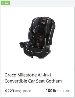 Success rate for Graco Convertible Car Seat