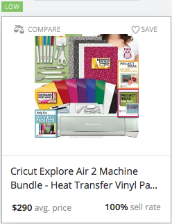 Statistics for Cricut Explore Air 2 Machine Bundle