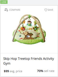Success rate for Skip Hop activity gym