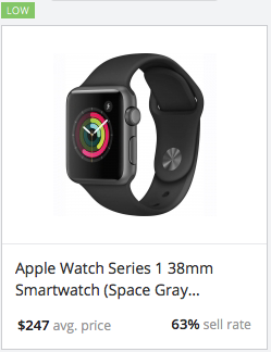 eBay statistics for Apple Watch Series 3