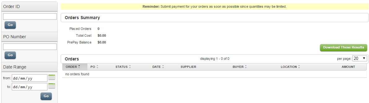 Doba Orders