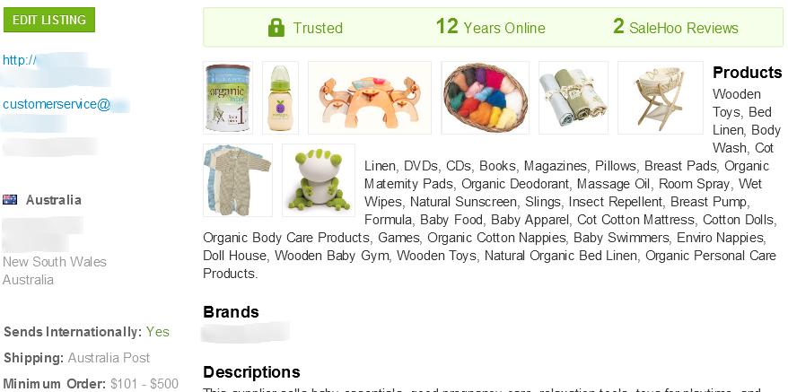 SaleHoo wholesale organic baby formula supplier #3