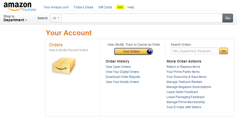 Amazon Sell Tab