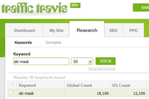 Traffic Travis Search - Ski mask