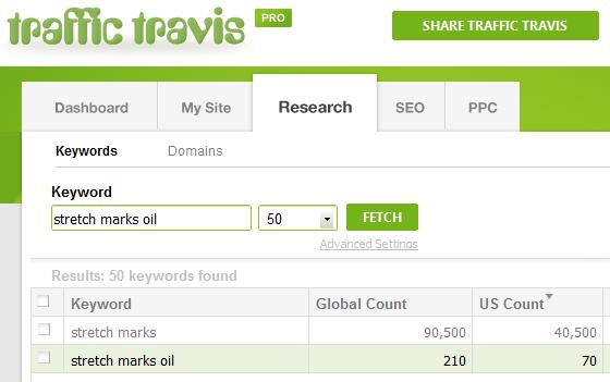 Traffic Travis Search - Stretch Marks Oil