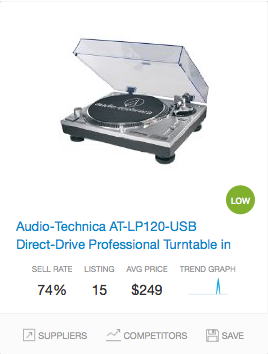 Success rate Turntable
