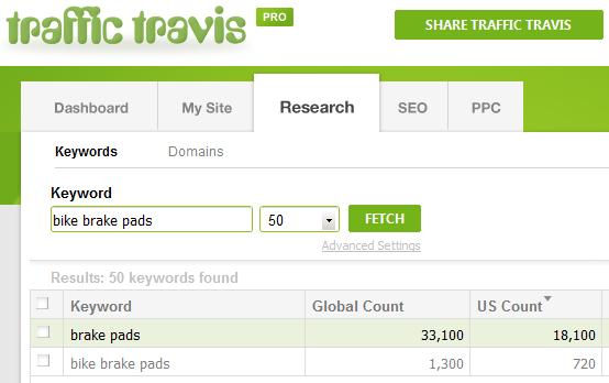Traffic Travis Search - Bike Brake Pads