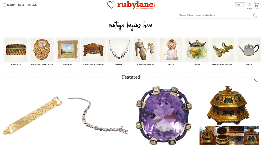4593804ed098 Ruby Lane is an online marketplace devoted to antiques, art, vintage  collectibles and jewelry. It's the perfect place to sell jewelry online.