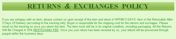eBay Returns Policy