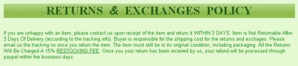eBay Returns Policy