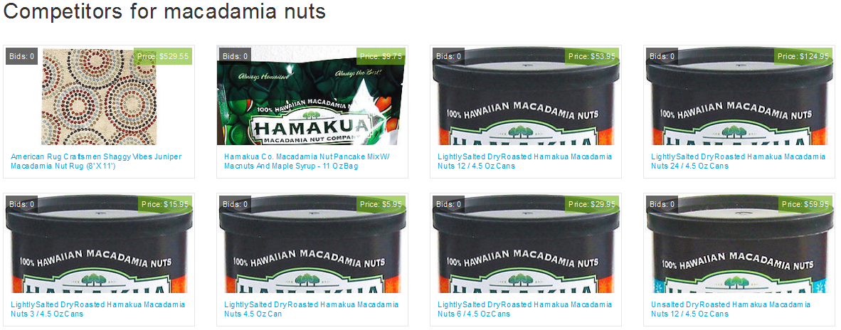 competition rating macadamia nuts