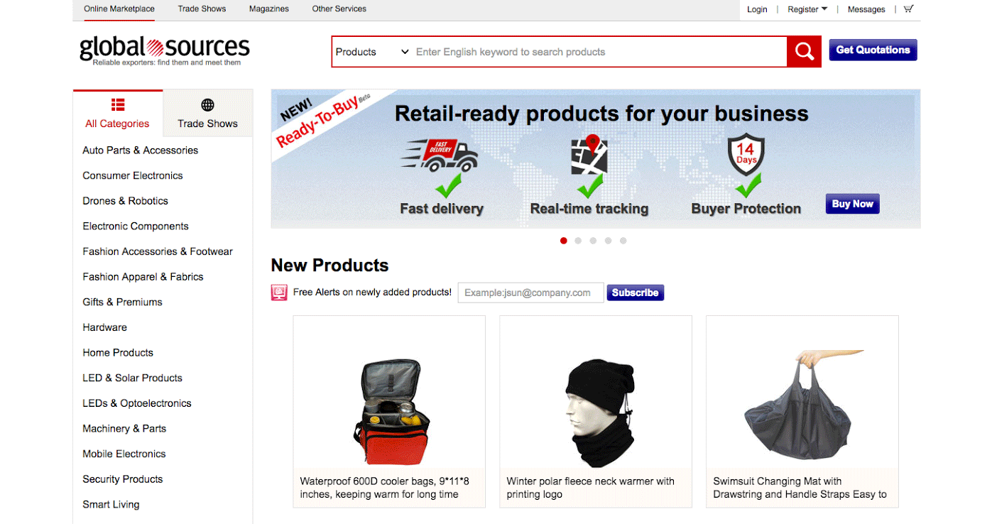 0751a8b0 Globalsources.com is a wholesale site based in China that's solely focused  on large-amount orders.