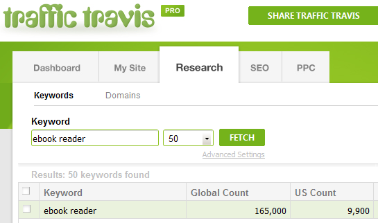 Traffic Travis Search - eBook Reader