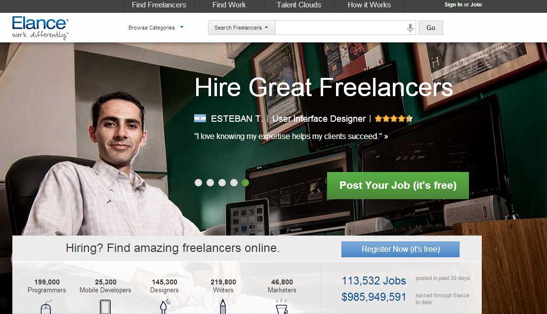 Freelancers flock to Elance.