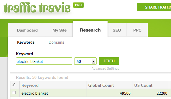 Traffic Travis search - Electric Blanket