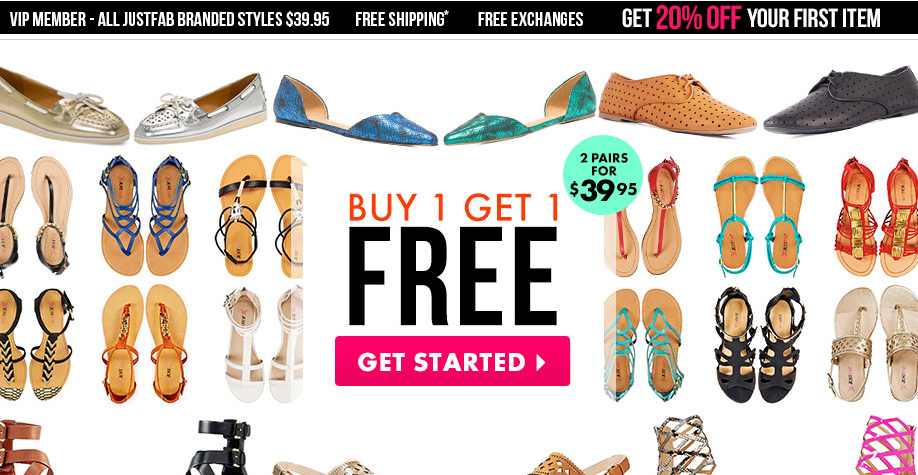 JustFab Home Page
