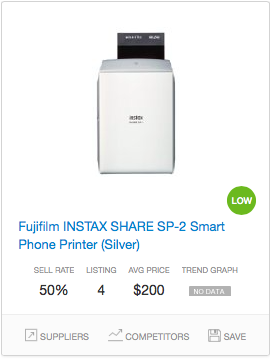 Success rate Instant Photo Devices