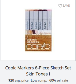 Copic Sketch Markers - Skin Tones
