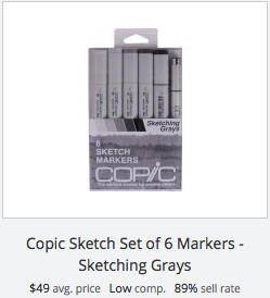 Copic Sketch Markers - Sketching Grays