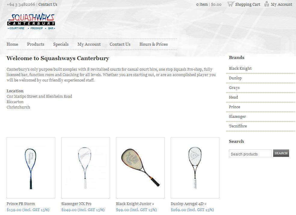Squashways Canterbury - SaleHoo Stores website