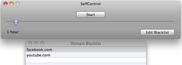 SelfControl Blacklist