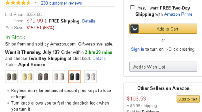 Amazon shipping details