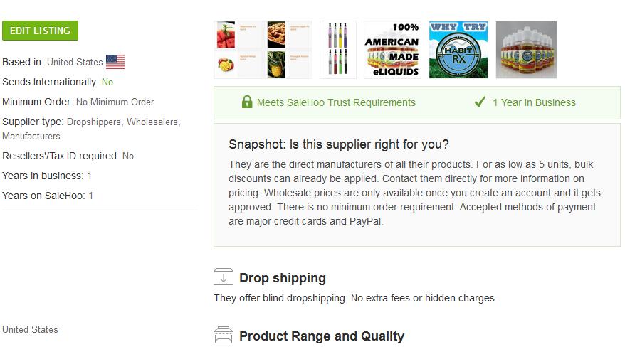 supplier 1 - e-juice