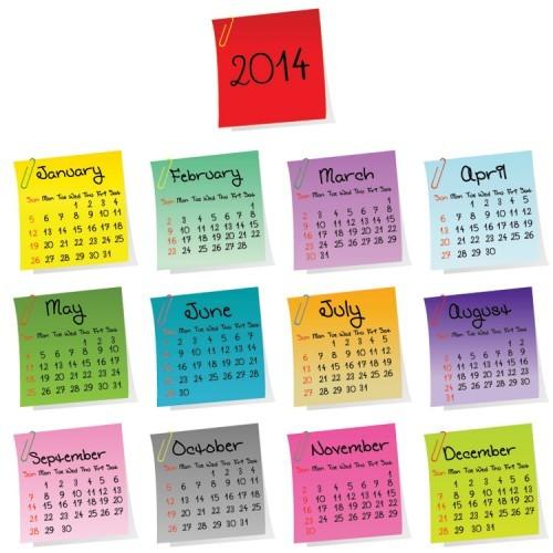 2014 Wall Calendar – Monday Market of the Week